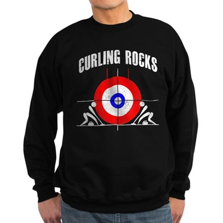 Curling Rocks! Sweatshirt (dark)