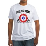 Curling Rocks! Fitted T-Shirt