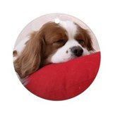 SLEEPING SPANIEL PUPPY Ornament (Round)