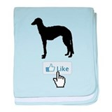 Scottish Deerhound baby blanket