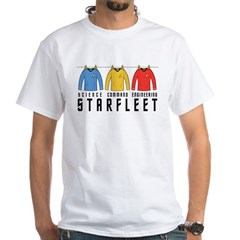 Starfleet Uniforms White T-Shirt