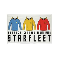 Starfleet Uniforms Rectangle Magnet