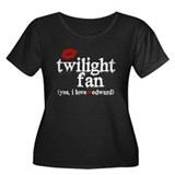 Twilight Fan Women's Plus Size Scoop Neck Dark T-S
