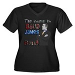 The Name's James Baud Women's Plus Size V-Neck Dar