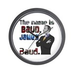 The Name's James Baud Wall Clock