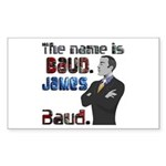 The Name's James Baud Sticker (Rectangle 50 pk)