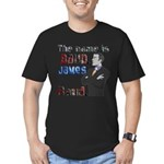 The Name's James Baud Men's Fitted T-Shirt (dark)