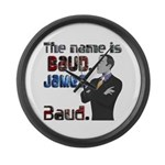 The Name's James Baud Large Wall Clock