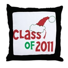 Class 2011 Christmas Throw Pillow