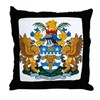 Brisbane Coat of Arms Throw Pillow