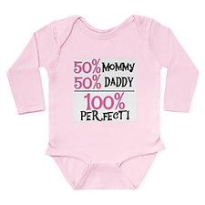 Pink 100 Percent Perfect Long Sleeve Infant Bodysu