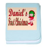 Daniel's first Christmas baby blanket