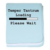 Temper Tantrum Loading baby blanket