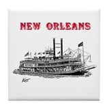 Steamboat Natchez - Tile Coaster