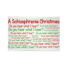 Schizophrenia Christmas Rectangle Magnet
