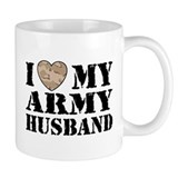 I Love My Army Husband Small Mugs