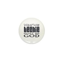 Techie God Mini Button (10 pack)