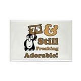 Adorable 75th Birthday Rectangle Magnet (100 pack)