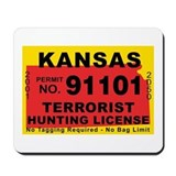 Kansas Terrorist Hunting Lice Mousepad