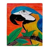 Parrot Head Throw Blanket from Art