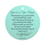 New Mom - Baby Boy Ornament (Round)
