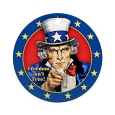 Uncle Sam Ornament (Round)