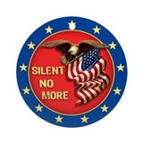 Silent No More Ornament (Round)