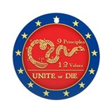 Unite or Die Ornament (Round)