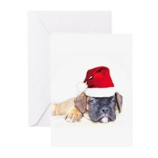 Christmas Boxer Puppy Greeting Cards (Pk of 10)