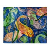 Tropical Fish Throw Blanket from art