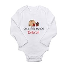 Don't Make Me Call Babcia Long Sleeve Infant Bodys