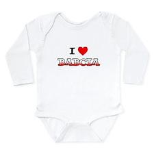 I Love Babcia Long Sleeve Infant Bodysuit