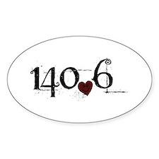 140.6 Smirk Decal