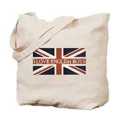 I Love English Boys Tote Bag