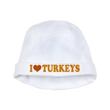 I Heart Turkeys Thanksgiving Baby Hat