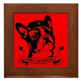 Boston Terrier Icon Framed Tile