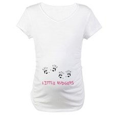 2 Lil Nudgers Maternity T-Shirt