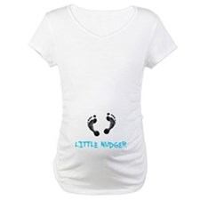 Footprint Nudger Maternity T-Shirt