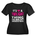 Twilight Thing Women's Plus Size Scoop Neck Dark T