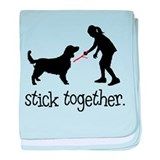 Welsh Springer Spaniel baby blanket