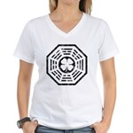 Dharma Luck Faded Women's V-Neck T-Shirt