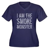 Smoke Monster Women's Plus Size V-Neck Dark T-Shir