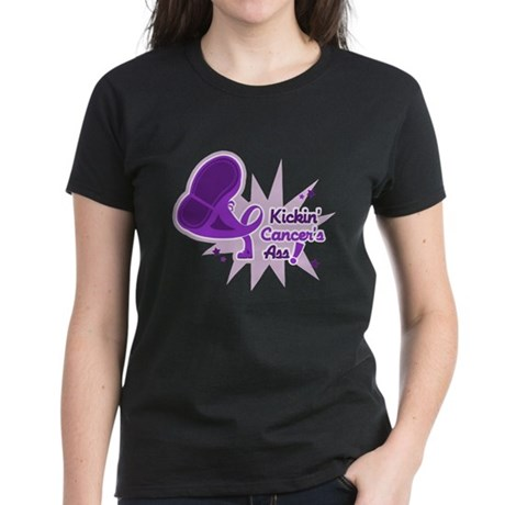 Kickin' Pancreatic Cancer Women's Dark T-Shirt
