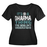 Dharma Thing Women's Plus Size Scoop Neck Dark T-S