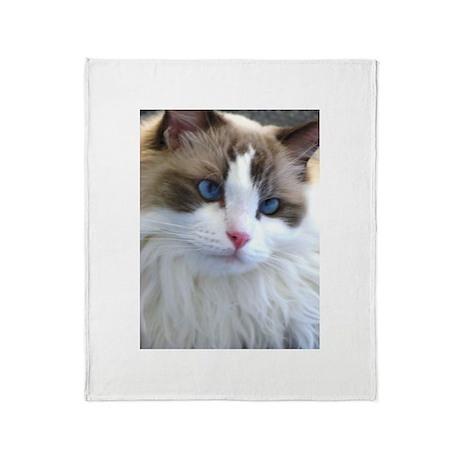Beautiful Ragdoll Cat Throw Blanket