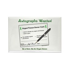 Organ Donor Autograph Rectangle Magnet