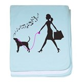 Treeing Walker Coonhound baby blanket