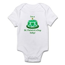 St Patrick's Day Birthday Infant Creeper