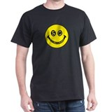 50th birthday smiley face Black T-Shirt