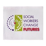 Social Workers Change Futures Throw Blanket